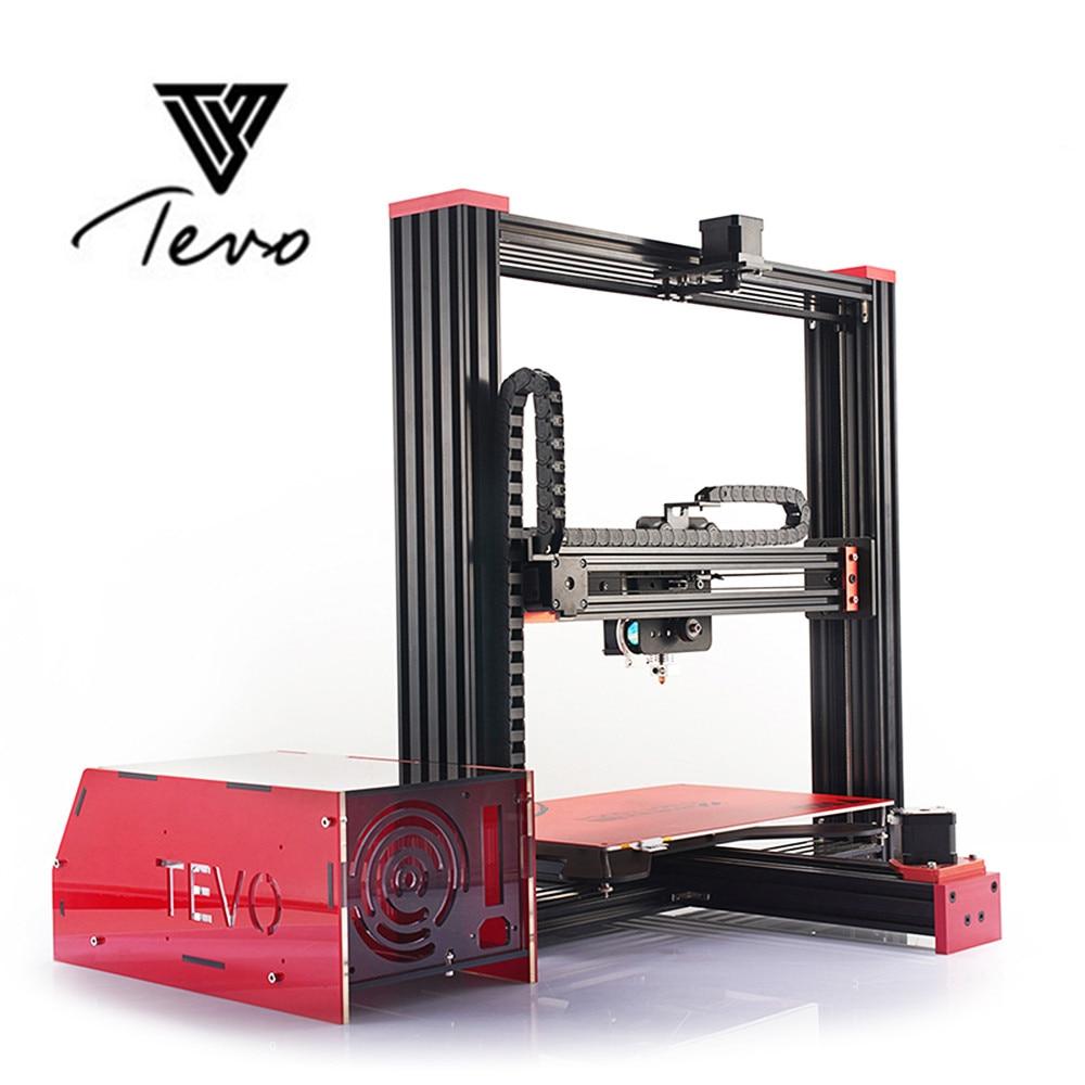 Newest 2018 Affordable Tevo Black Widow LCD 3d printer impresora Large Printing Area Free SD Card 3D Printer DIY Kit Using Usb