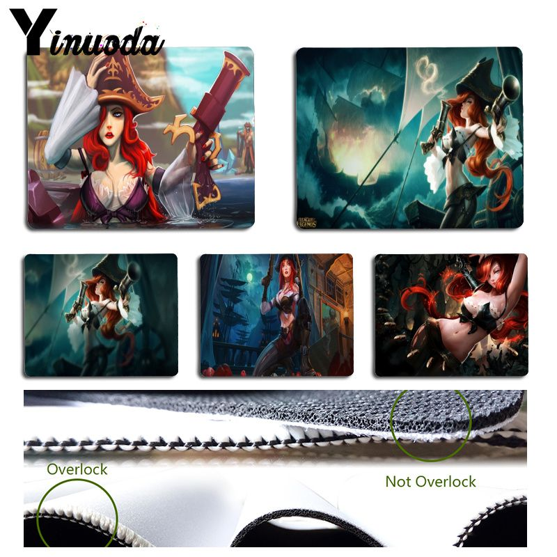 Yinuoda In Stocked miss-fortune league of legends Pad to Mouse Game Size for Size for 180x220x2mm and 250x290x2mm Small Mousepad