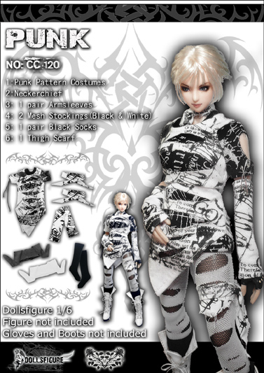1/6 scale figure doll clothes female Punk clothing for 12 Action figure doll accessories.not include doll and and shoes new sexy vs045 1 6 black and white striped sweather stockings shoes clothing set for 12 female bodys dolls