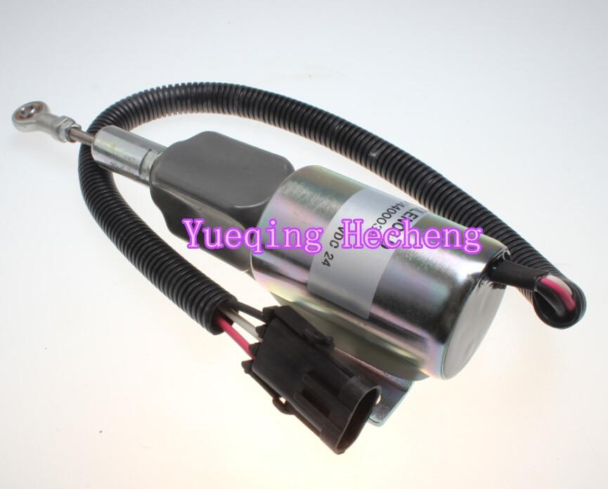 Fuel Shutoff Solenoid Valve 3930236 SA-4348-24 For 4BT 6BT 6CT NT855 K38 fuel shutdown solenoid valve sa 3765 sa 3765 12 12v for bosch rsv 1751 solenoid left mounted