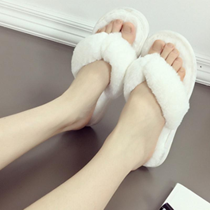 b2e3ee93e3d0 Plush Anti Skid Flip Flop Clamps Cotton Slippers Women s Warm Spa Thong  Slipper Crystal Super Soft Slippers For Home Flip FlopsUSD 10.48 piece