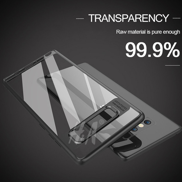 H&A Transparent PC & TPU Silicone Slim Case For Samsung Galaxy S8 Plus S7 edge NOTE 8 Cases For Samsung NOTE8 S8 Plus S7 Cover