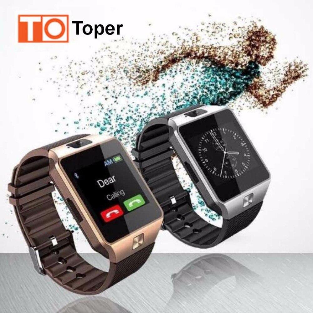 imágenes para 2017 por Tiempo limitado La Venta Toper Dz09 Reloj Inteligente Soporte Sim Tf Tarjeta Electrónica Dispositivo Smartwatch Reloj Teléfono Para Smartphone
