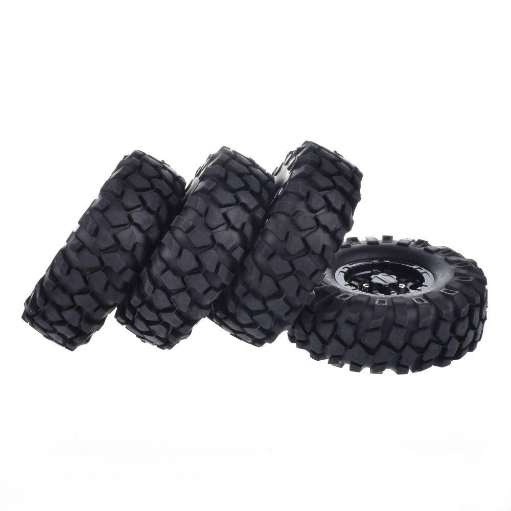 1.9 Wheel Rims Beadlock With 108mm Tires Set for 1:10 RC Crawler Rock Car RC4WD SCX10 CC01