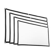 Yumuşak projeksiyon perdesi Film ev sinema Film ekranı projeksiyon 100% polyester malzeme katlanır ambalaj küçük boyutlu HD projeksiyon