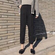 цены на Women Chiffon Harem Pants 2019 Leisure Loose Radish Footless Suit Pants Female Summer Straight Pants Plain Trousers Harajuku  в интернет-магазинах