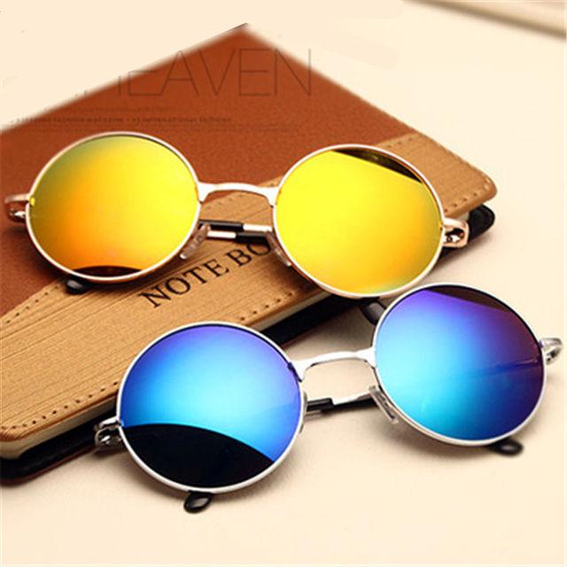 Populaire YOOSKE Belle Vintage lunettes de Soleil Rondes Femmes Mâle Femelle  GB67