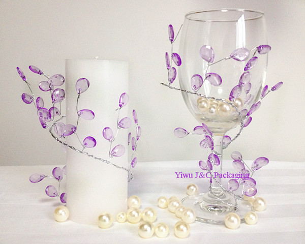 Captivating Free Shipping  20pcs PURPLE SPARKLING DIAMOND BRANCH BEAD SPRAY WEDDING TABLE  DECORATION FLOWER CAKE BOUQUET DECORATION(JCO F01) Part 19