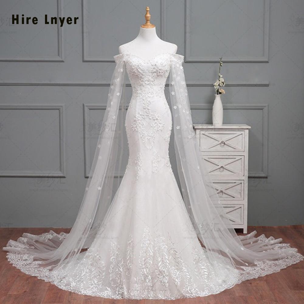 Online Shop HIRE LNYER 2019 New Arrive Slim Elegant Mermaid Wedding Dress  Vestido De Noiva Sereia Beaded Appliques Bridal Gown Bruidsjurken  128df7077eb2