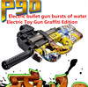 Hot P90 Electric Toy Gun Graffiti Edition Live CS Assault Snipe Weapon Soft Water Bullet Bursts