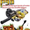 Hot P90 Electric Toy Gun Graffiti Edition Live CS Assault Snipe Weapon Soft Water Bullet Bursts