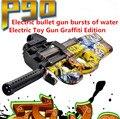 P90 Arma de Brinquedo Elétrico quente Graffiti Edição Ao Vivo CS Assalto Snipe Rajadas de Água Bala Arma arma Macio Engraçado Brinquedos Ao Ar Livre Para O Miúdo