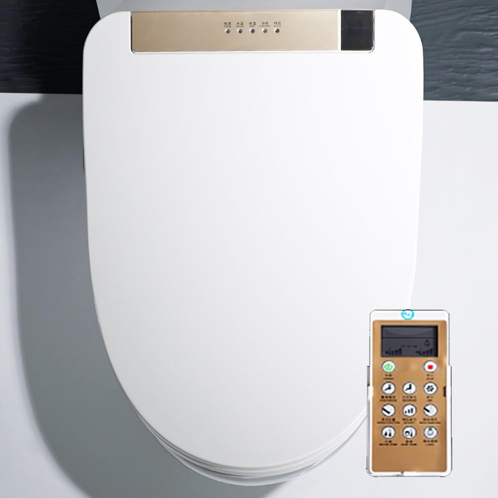 KOHEEL LCD Elongated Electric Bidet Cover Intelligent Toilet Seat Washlet Smart Bidet Heating Sits Led Light Wc