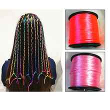 Fashion Shiny Color Braided Rope For Girls to Attend The Party Bling Headdress Accessories 1pcs/lot