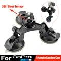 Gopro Accessories Car Suction Cup Holder Triangle + Cloud Terrace 360 degree Yuntai for Go Pro Hero 5 4 3+ 3 SJCAM Xiaomi Yi 4K