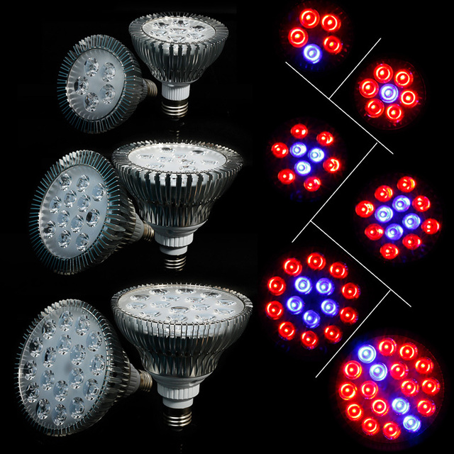 Rayway Full Spectrum 5/7/9/12/15/18LEDs AC85-265V Red+Blue High Power E27 LED Plant Grow light for Hydroponic Systems