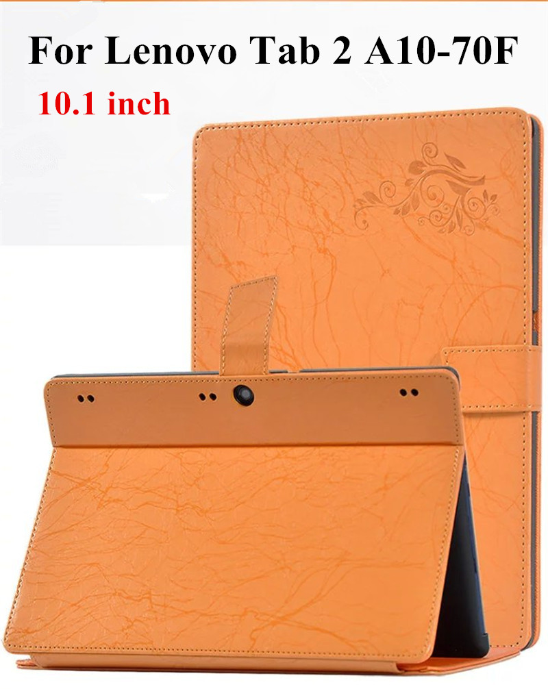 Flower ColorFul Print Tab2 A10 70 stand leather case cover for lenovo tab 2 A10 a10-70 A10-70F A10-70L Tab3 X70 10'' Tablet Case