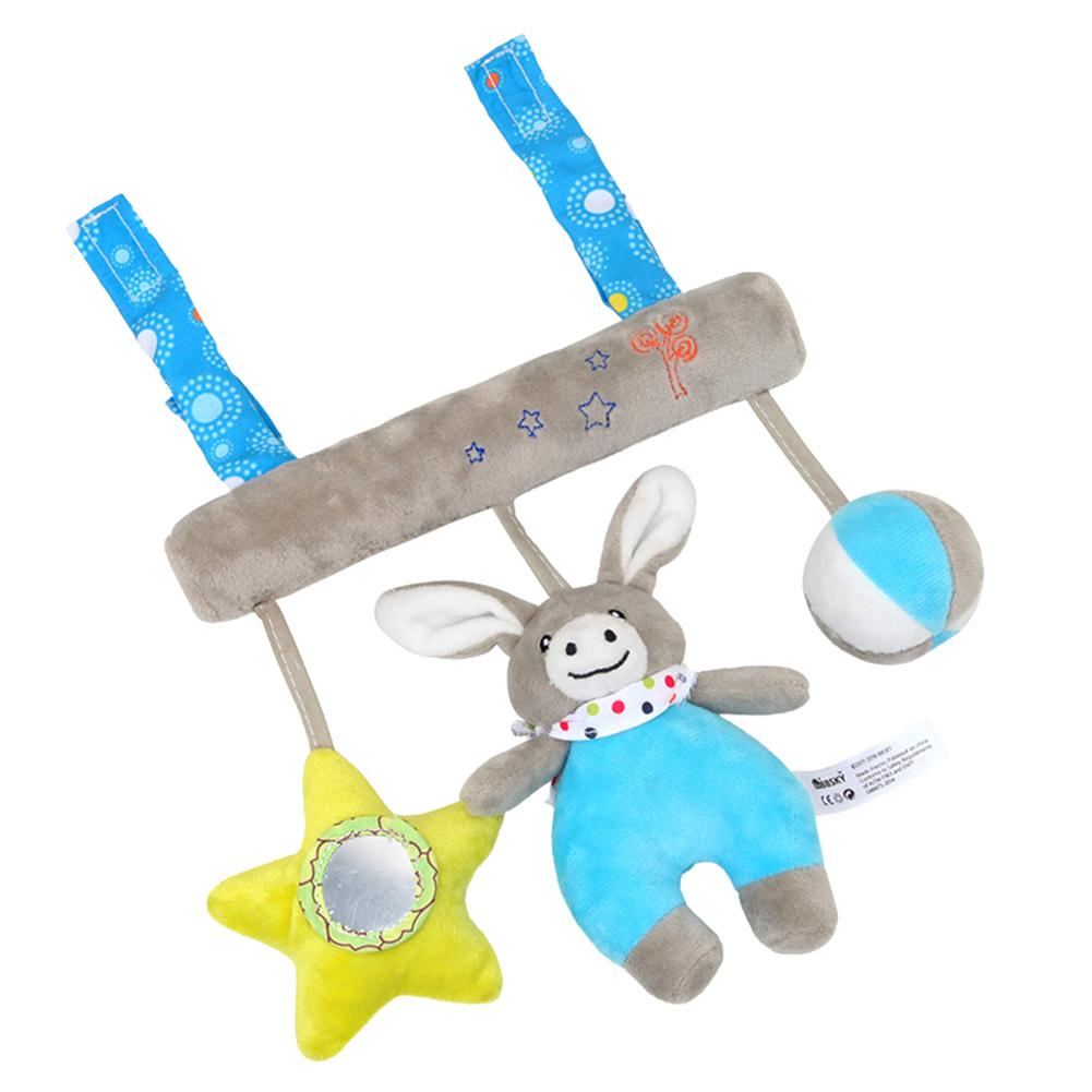 Sound Music Box Multi-Functional Baby Car Hanging Toy Plush Bed Hanging Bell Baby Soothes Sleep Soft Bed Bell Animal