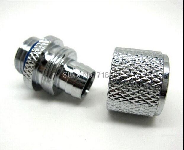 6 pcs lot siliver mão acessórios de compressão do bico G1/4 fio terno 8X12mm tubos de refrigeração de água computador