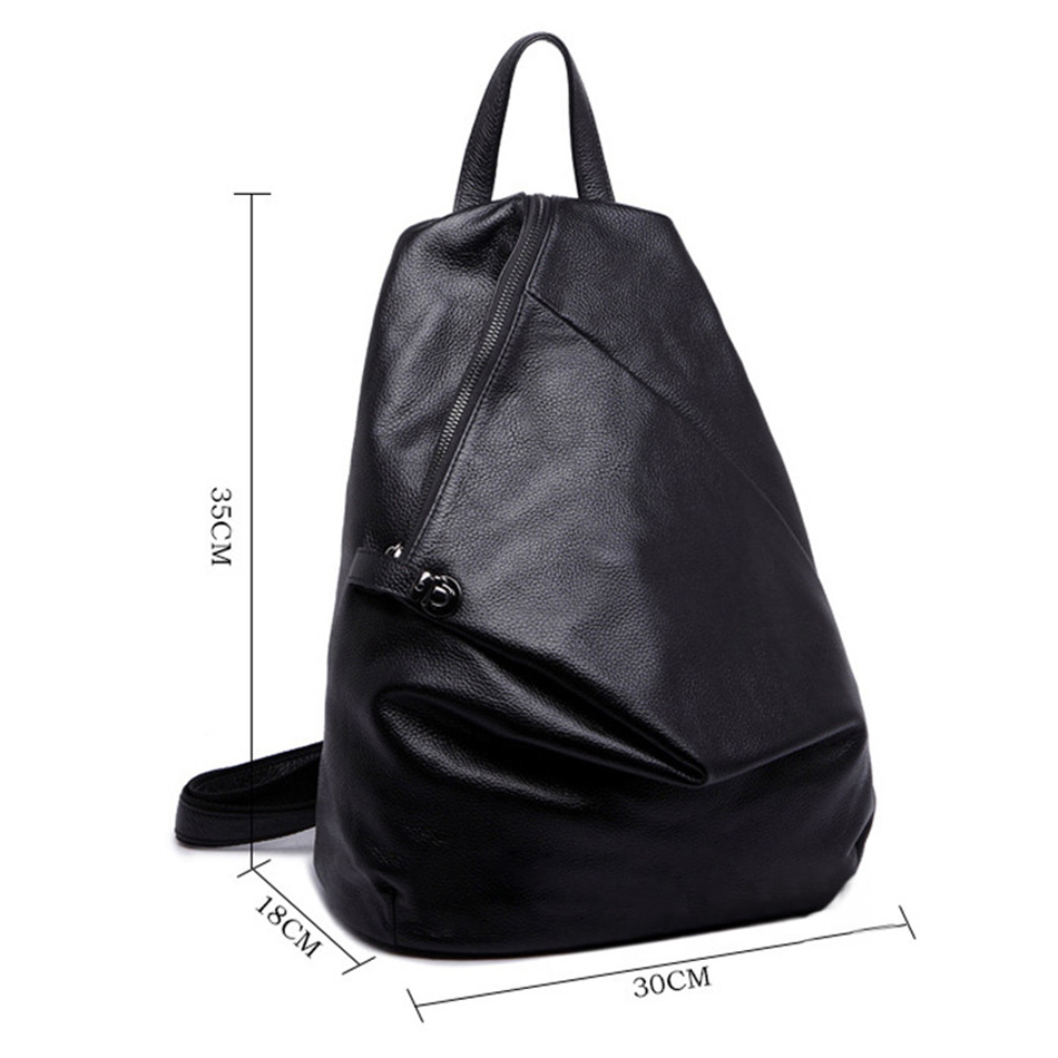 b8c35f887c High Quality ladies leather backpacks Fashion soft Backpack For Teenage  Girls School Bags Women Travel Back pack Black Mochila -in Backpacks from  Luggage ...