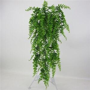 Image 2 - Hojas artificiales de plástico para decoración de pared, planta colgante de pared para jardín, sala de estar, Club, Bar, hojas de imitación, planta verde, hiedra P0.11