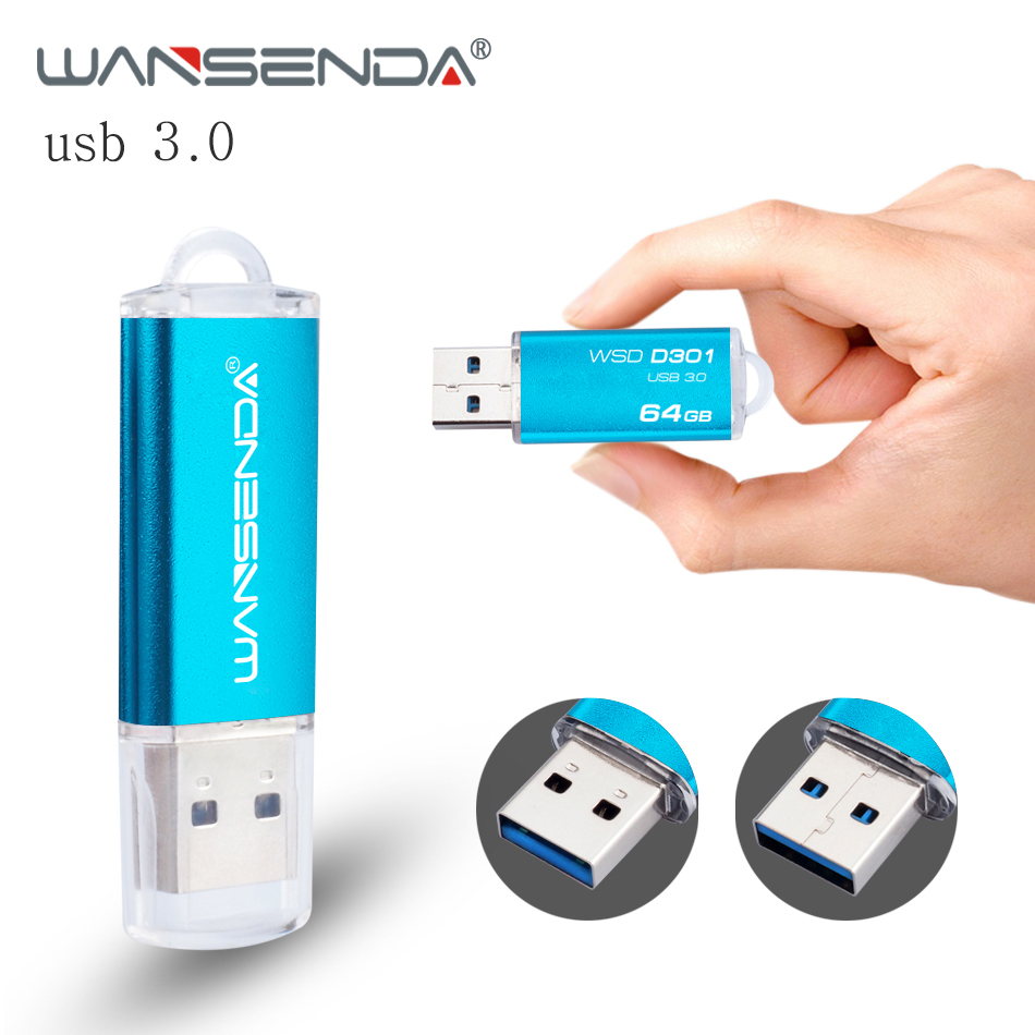 WANSENDA Metal Usb flash drive mini usb stick pen drive 4gb 8gb 16gb 32gb 64gb usb 3. 0 pendrive High Speed usb flash disk usb flash drive 64gb elari smartdrive usb 3 0