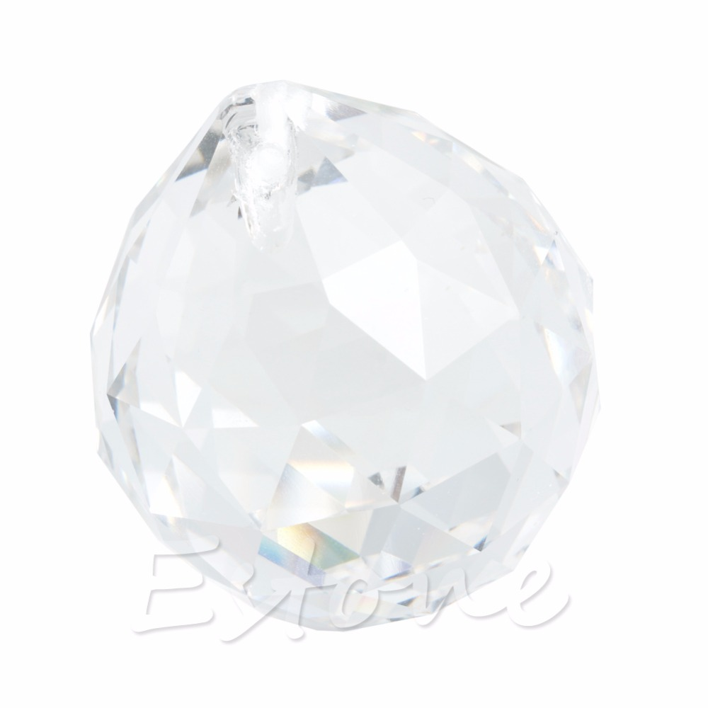 1 Clear Crystal Feng Shui Lamp Ball Prism Rainbow Sun Catcher Wedding Decor 30mm L15 david kennedy daniel feng shui for dummies