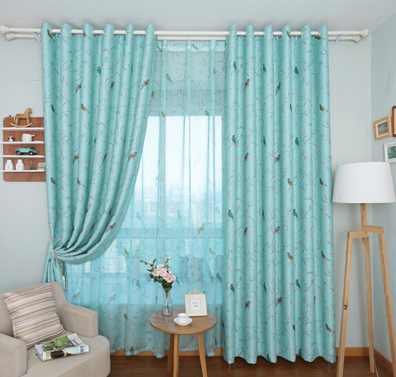 Luxury Modern Fashion Green Bird Polyester Curtains For Living Room Curtain  Shade Blind Simple Design Amazing Curtains In Curtains From Home U0026 Garden  On ... Part 21