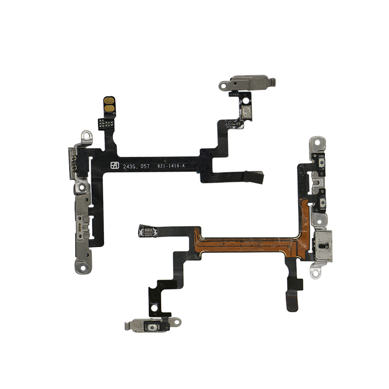 For iPhone 5 5G 5S Power on off Button Swtich Volume Side Key Sound Flex Cable Ribbon Replacement Mobile Phone Parts