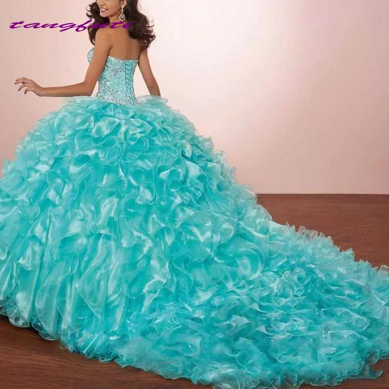 Sweetheart Neckline Ball Gown Quinceanera Dresses Sleeveless Puffy Sweet 16 Dresses Party Dress Prom Dress vestidos de 15 anos
