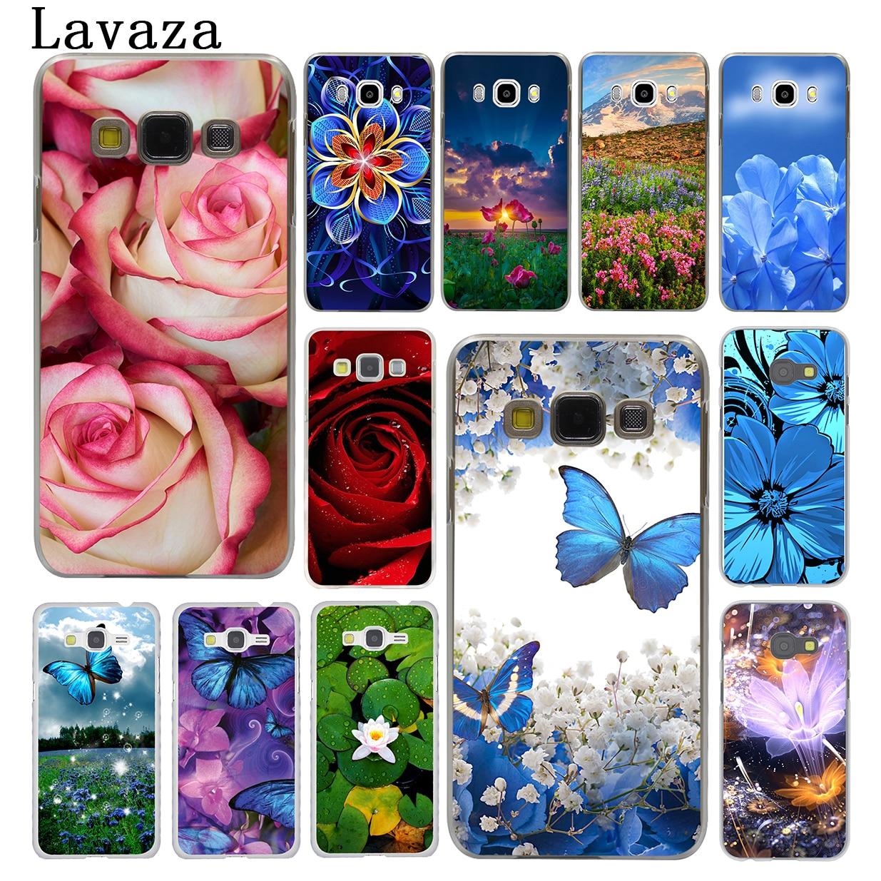 Lavaza Rose flower Peony Butterfly Hard Phone Case for Samsung Galaxy J7 J1 J2 J3 J5 2015 2016 2017 Prime Pro Ace 2018 Cover