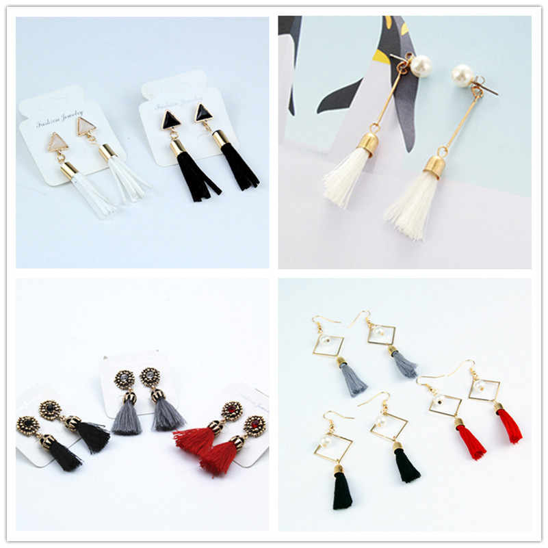 New trend of fashion earring drop ladies temperament small imitation pearl earrings tassels earring wedding jewelry female e0122