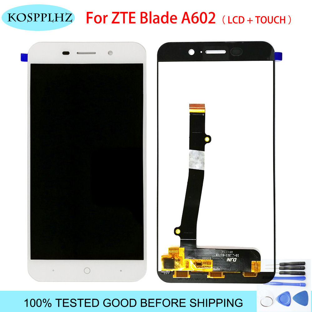 100% Tested For <font><b>ZTE</b></font> <font><b>Blade</b></font> <font><b>A602</b></font> <font><b>LCD</b></font> <font><b>Display</b></font> Touch Screen Good Screen Digitizer Assembly Replacement For <font><b>ZTE</b></font> Mobile Accessories image