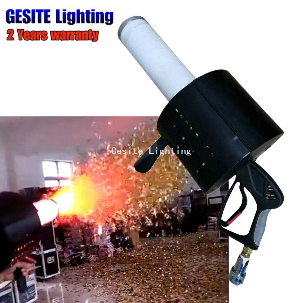 купить Stage special effects color paper launcher machine/LED confetti blower dj gun co2 по цене 29576.68 рублей