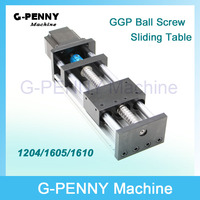 GGP Travelling length 100MM Ball Screw 1204/1605/1610 Linear Motion Guide Rail Moving Table X Y Z Axis with Nema23 Stepper Motor