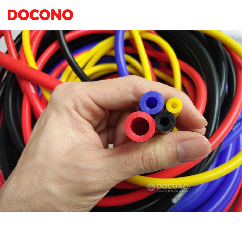 Universal 3mm/4mm/6mm/8mm Vacuum Silicone Hose Intercooler Coupler Pipe Turbo Blue/Black/Red/Yellow
