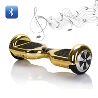 Hoverboard 6 5inch Bluetooth Electric Skateboard Steering Wheel Smart 2 Wheel Self Balance Standing Scooter Hover