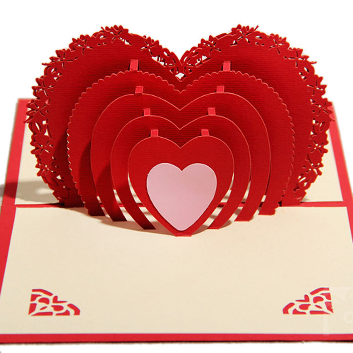 Online Shop 3d stereo handmade greeting card birthday card – Birthday Card with Love