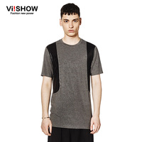 Viishow Brand Clothing T Shirt Summer Dark Gray Rivets Design Top Tee Shirt Casual Mens Basketball