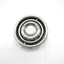 Giratoria Balance tecnología negra Spinner de mano Acero inoxidable EDC Spinner Fidget autismo ADHD descompresión juguete giroscopio de Metal