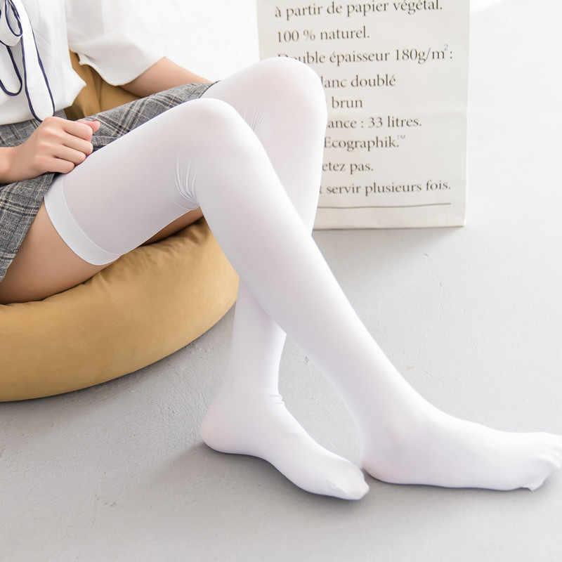 e0c4751d182 25-27 INCHES NUDE BLACK WHITE women girl Lolita stockings SUPER long  STOCKING socks COSPLAY