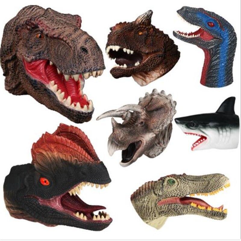 Hot Halloween Christmas Dinosaur Gloves Cosplay Game Dinosaur Toy Props Tyrannosaurus Dinosaur Gloves Children Gift