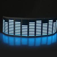 led music Music Rhythm Sound Audio Activated Sensor Car LED Flash Light Equalizer Blue (4)