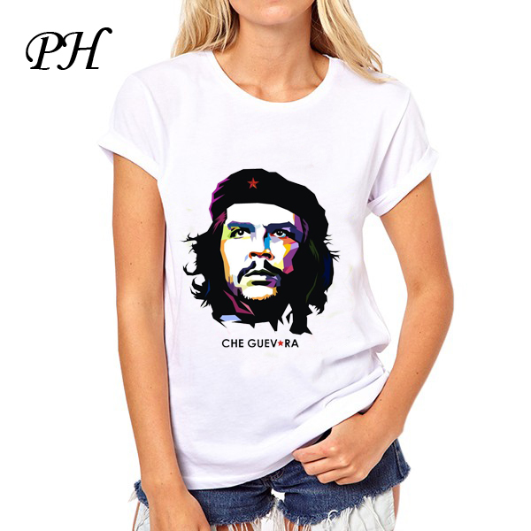 82dc4806f Detail Feedback Questions about PinHe Che Guevara Graphic Print T shirt  White Summer Style Women Slim Harajuku T shirt Female Blusa women tee tops  on ...