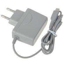 Cargador de fuente de alimentación con enchufe europeo, adaptador de CA para 3 D S para ND Si, color gris