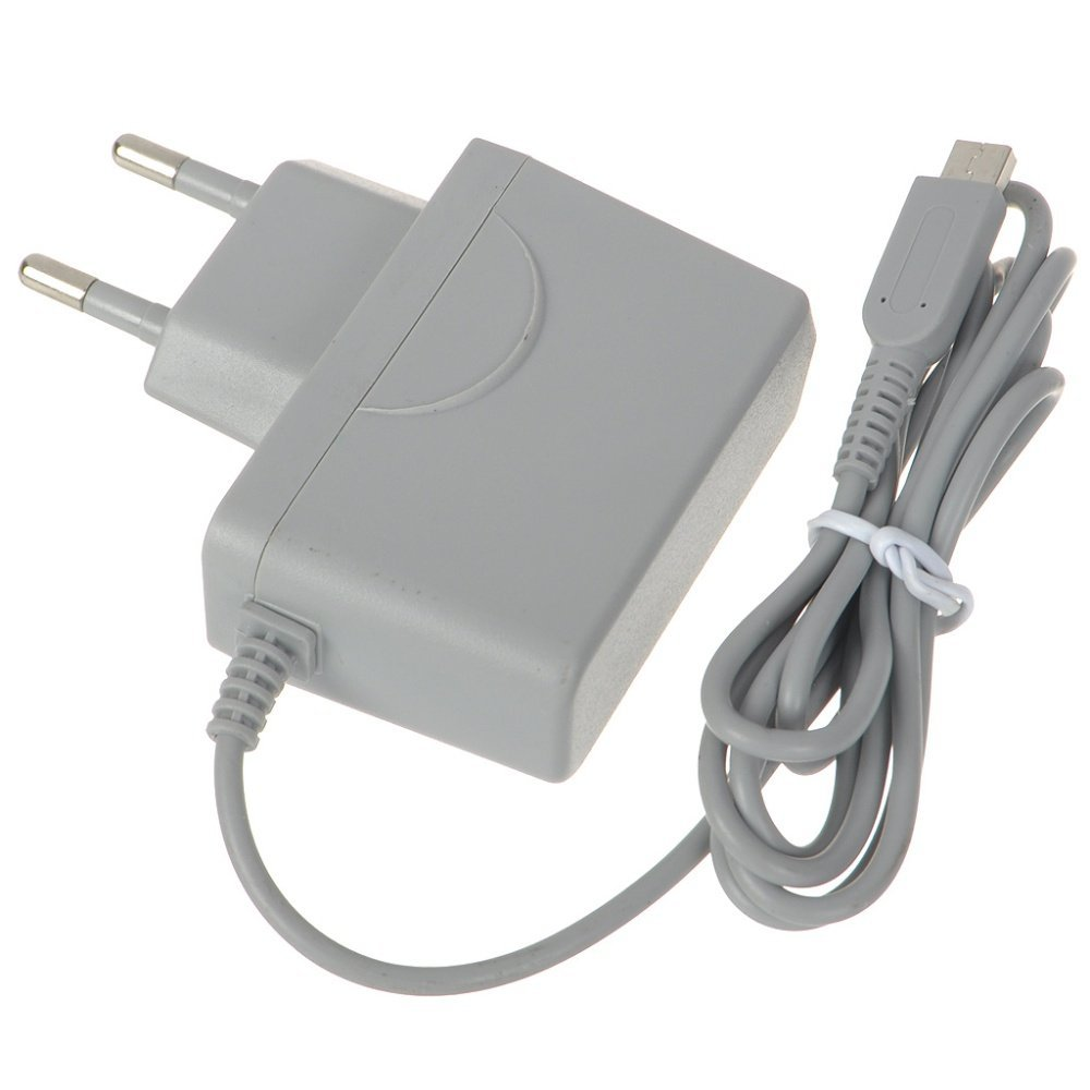 EU  Plug Power Supply Charger AC Adapter For 3 D S For ND Si Gray Color