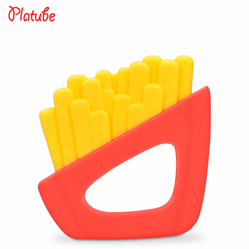Fresh Fries Food Grade Silicone Baby Teethers Infant Teething Toys Bpa Free Chewable Silicone Baby Teether Comfort Baby Care