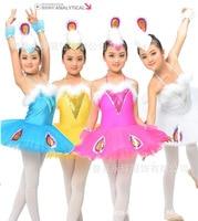 2015 جديد غزل سوان الباليه زي توتو يوتار ل gilrs فساتين الاطفال لينة طفل فتاة الجمباز الرقص الأداء اللباس LD090