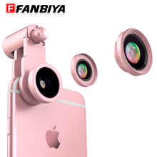 FANIBYA Fisheye Lens 3 in 1 Mobile Phone 10x Micro Telecrope Optical Zoon Lentes + 120 Wide Angles Macro Camera Clip Android
