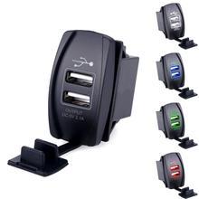 Универсальный Двойной USB Автомобильное Зарядное Устройство Адаптер Питания 12-24 В 3.1A Dual USB Разъем Зарядное Устройство Для iphone 5 6 6s Ipad Samsung Tablet
